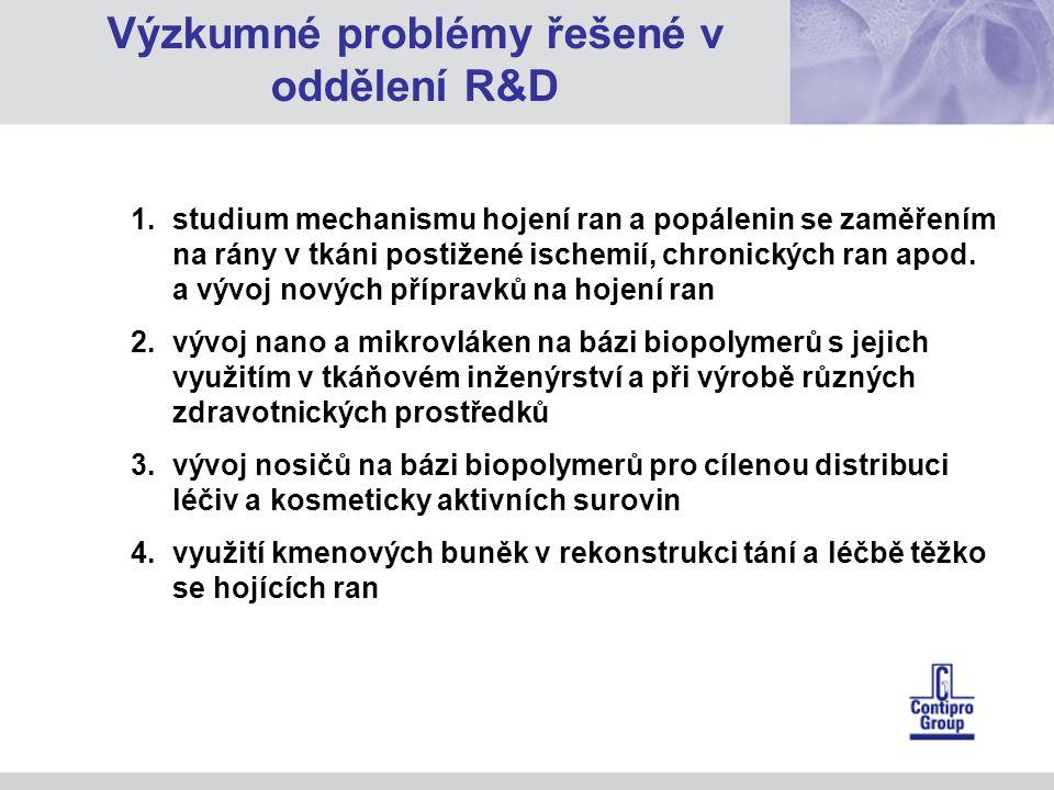 1.studium mechanismu hojení ran a popálenin se zaměřením na rány v tkáni postižené ischemií, chronických ran apod.