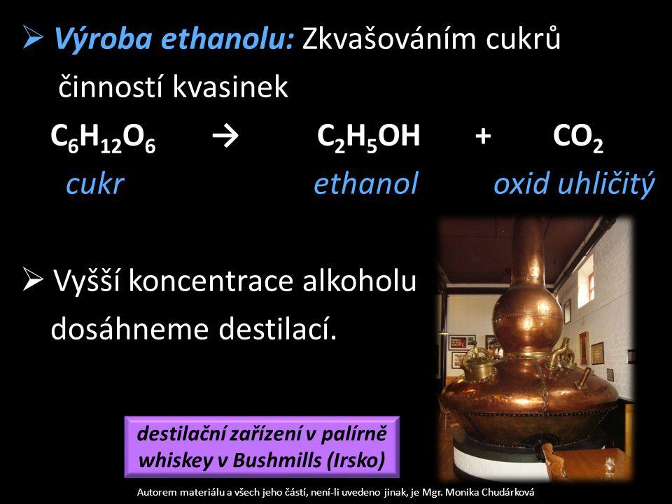 Účinky ethanolu na lidský organismus  Vliv na nervovou soustavu: Poškozuje nervovou soustavu a játra.