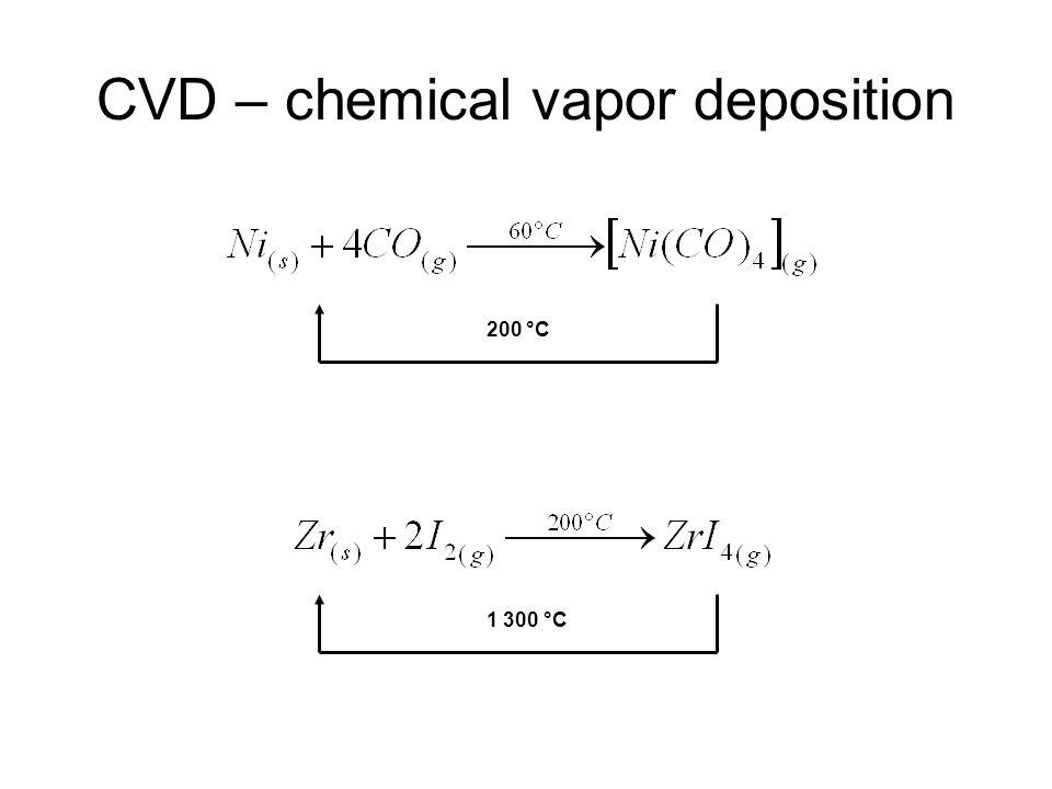 CVD – chemical vapor deposition 200 °C 1 300 °C