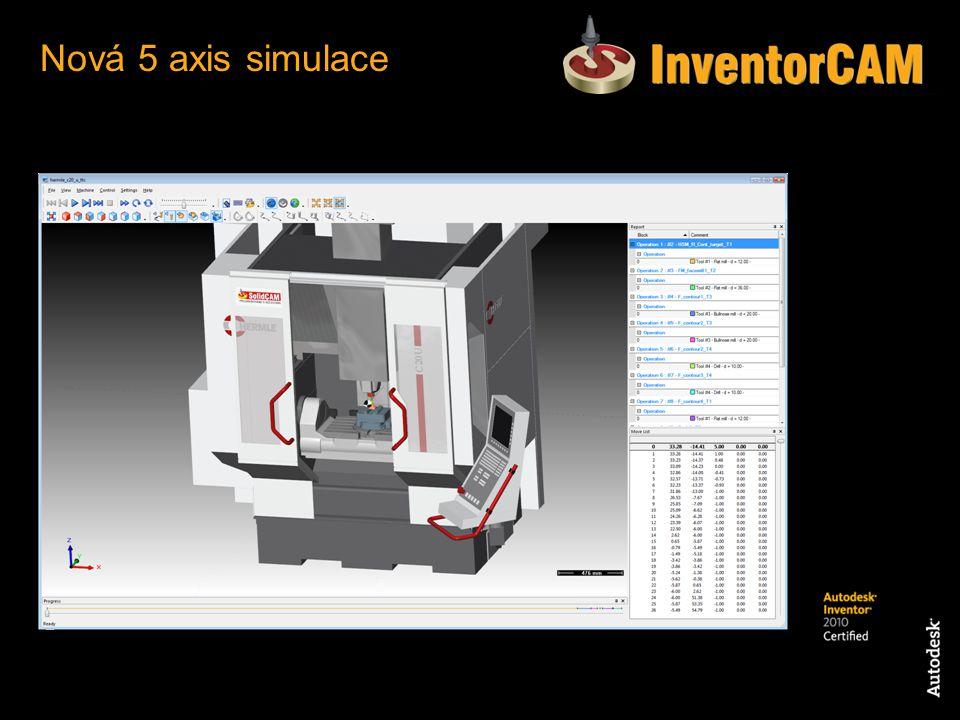 Nová 5 axis simulace