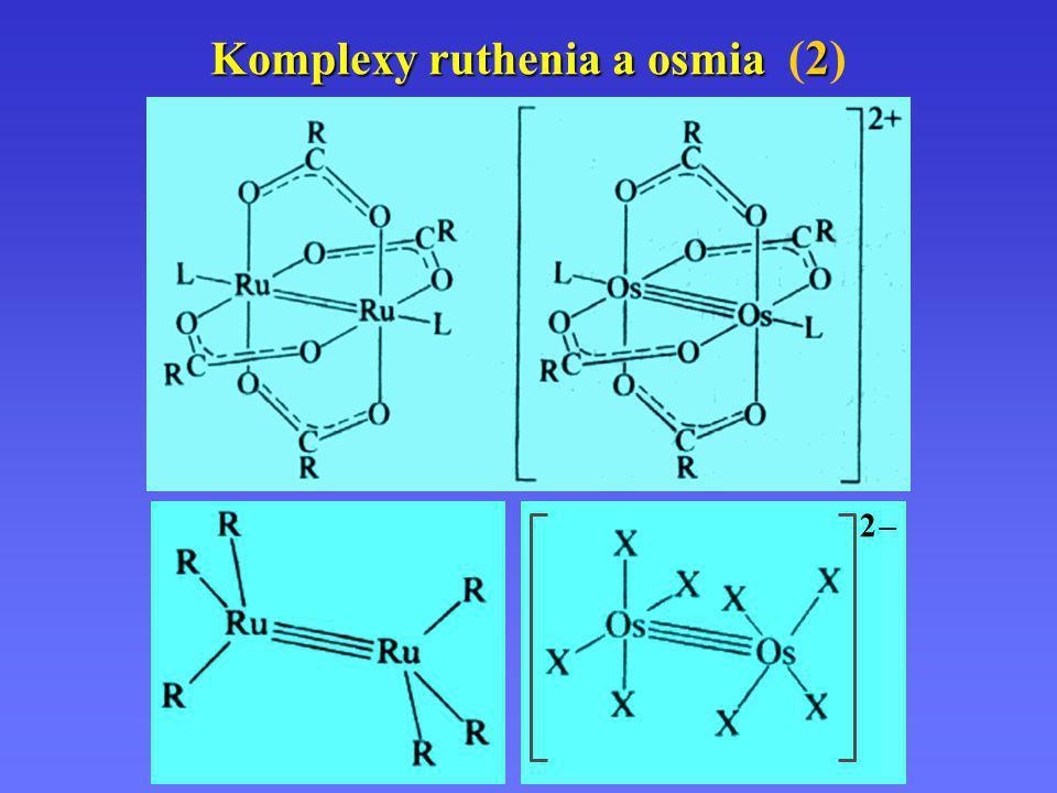 Komplexy ruthenia a osmia 2 Komplexy ruthenia a osmia (2) 2 –2 –