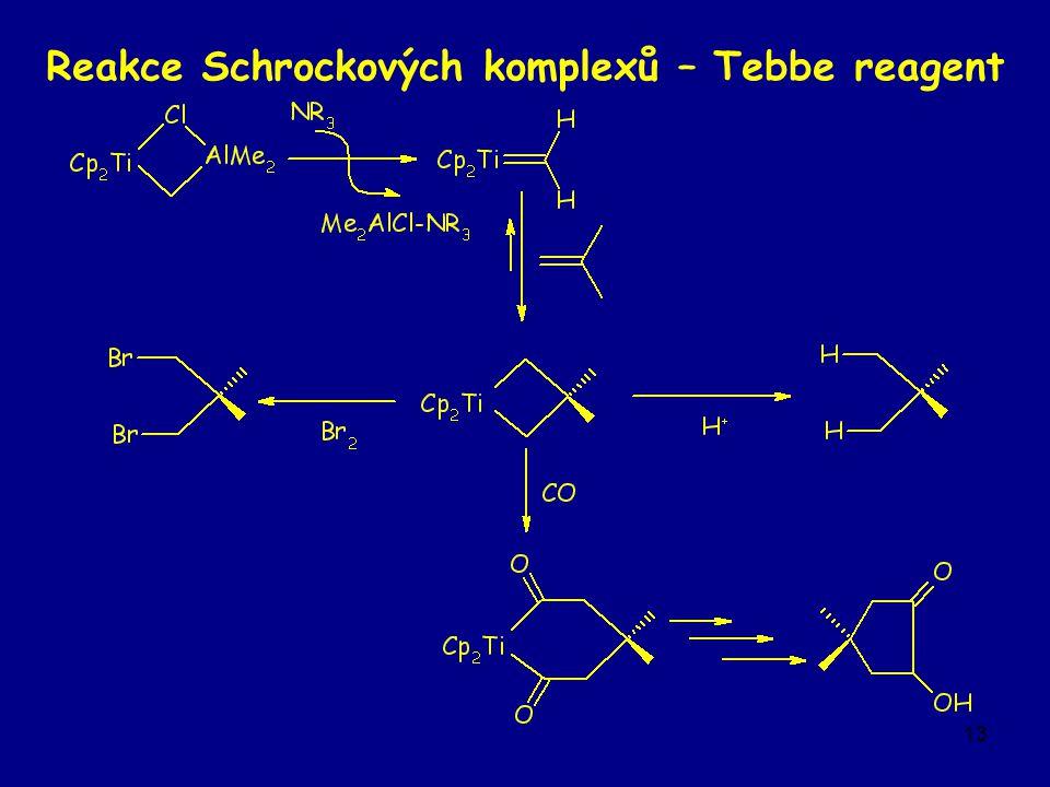 13 Reakce Schrockových komplexů – Tebbe reagent