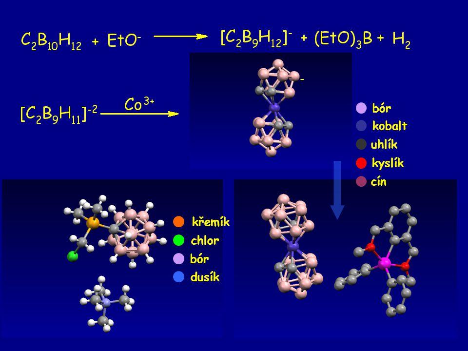 26 křemík chlor bór dusík - bór kobalt uhlík kyslík cín