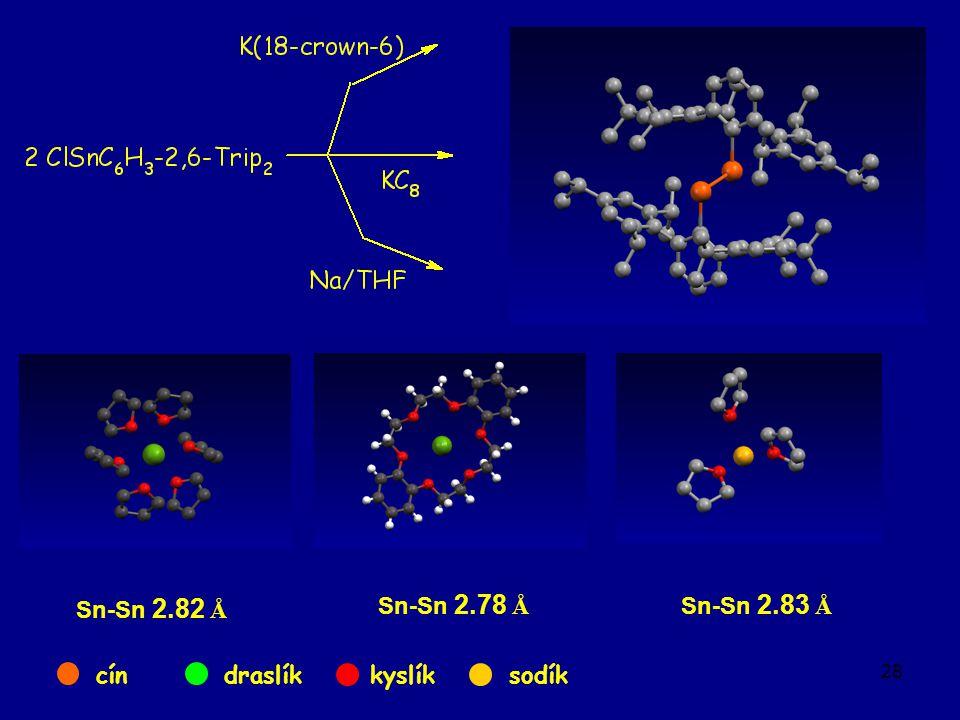 28 Sn-Sn 2.82 Å Sn-Sn 2.78 Å Sn-Sn 2.83 Å cíndraslíkkyslíksodík
