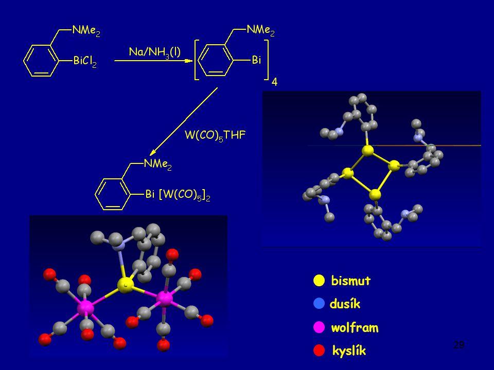29 wolfram dusík kyslík bismut