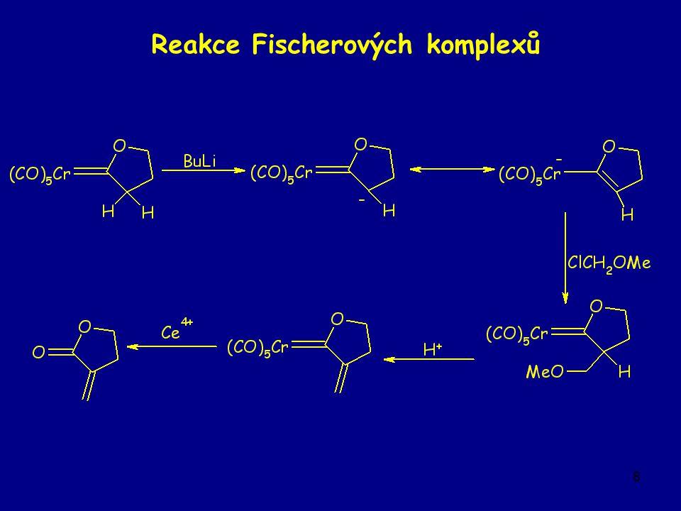 8 Reakce Fischerových komplexů