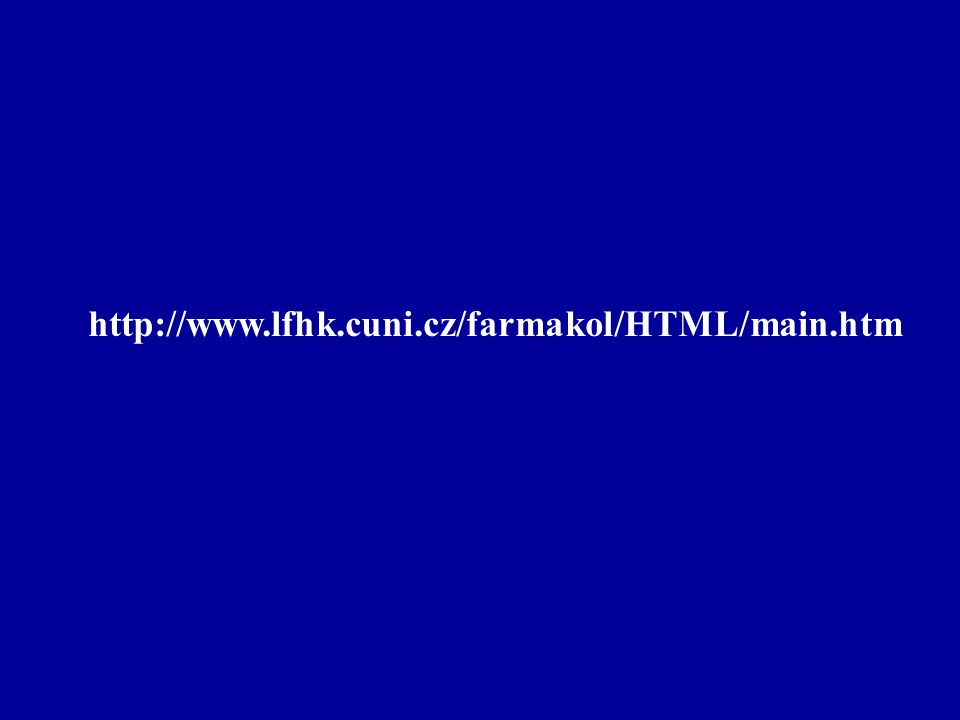 http://www.lfhk.cuni.cz/farmakol/HTML/main.htm