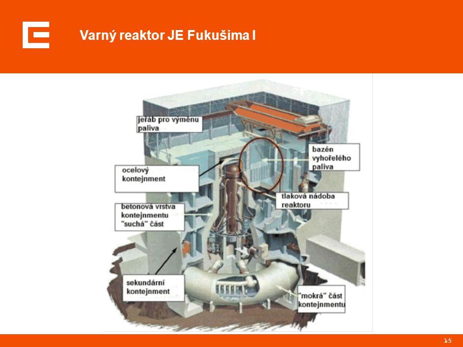 15 Varný reaktor JE Fukušima I