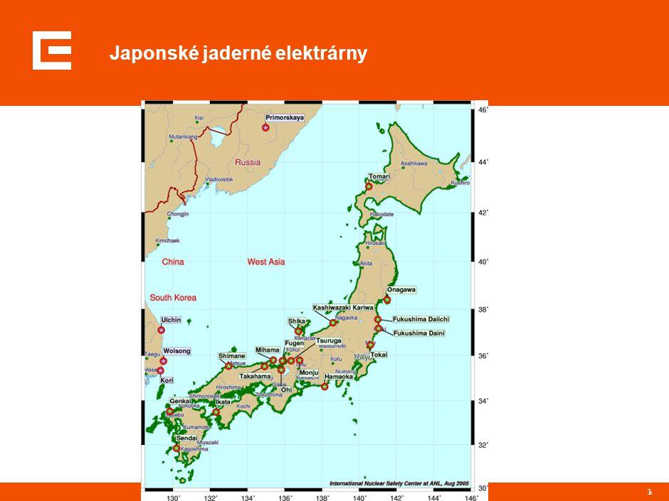 1 Japonské jaderné elektrárny