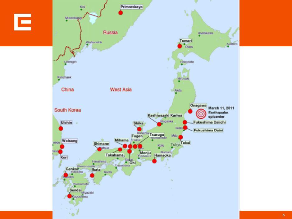26 JE Japonský úřad pro jadernou bezpečnost zařadil havárii v elektrárně Fukušima 1 na pátý stupeň sedmibodové mezinárodní stupnice jaderných a radiačních událostí INES.