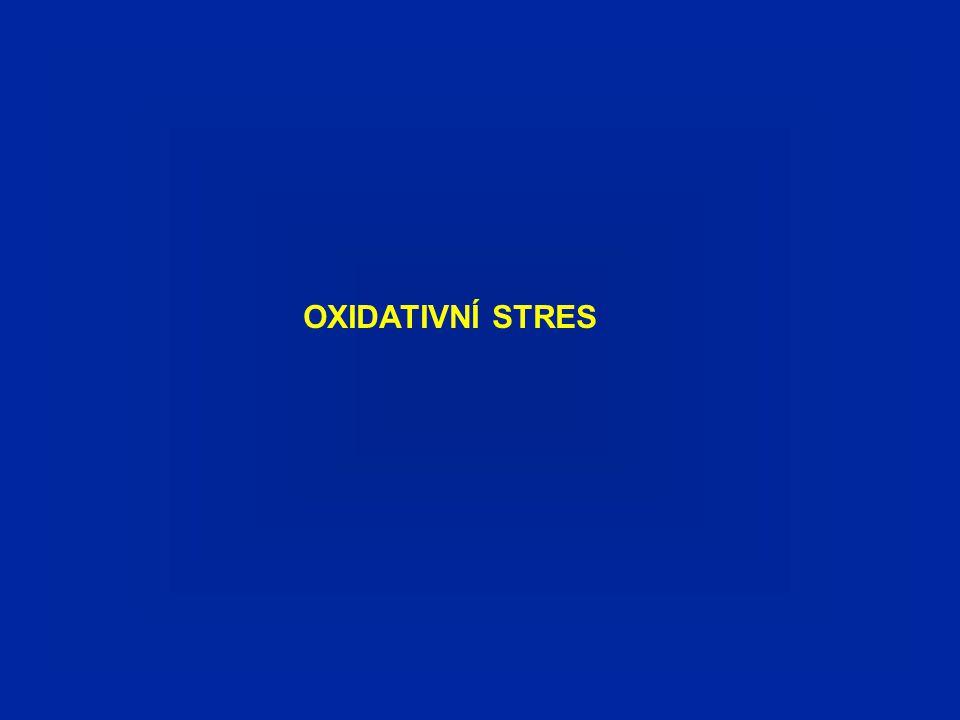 Oxidativní stres je nerovnováha mezi (zvýšenou) produkcí ROS a oxidovaných metabolitů a limitovanou kapacitou antioxidačních mechanismů.