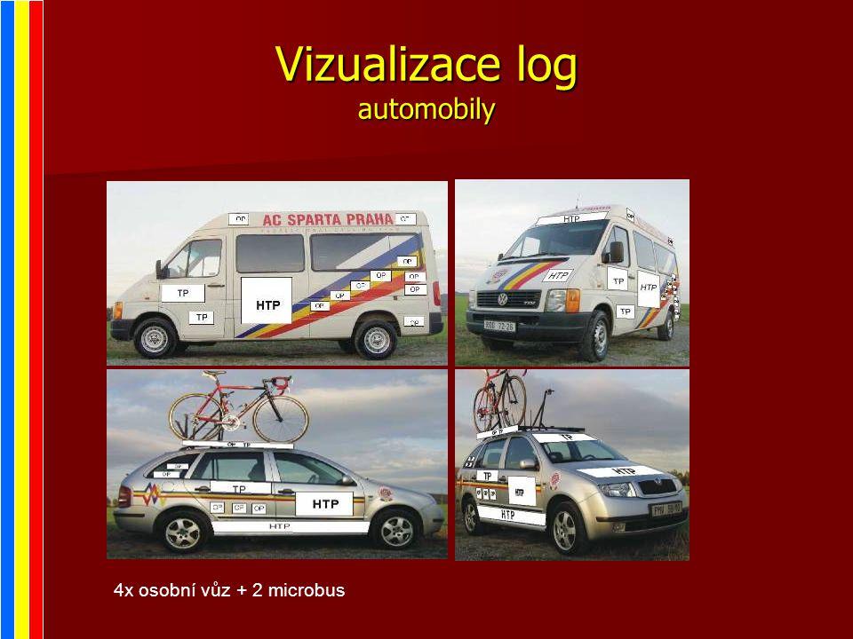 Vizualizace log automobily 4x osobní vůz + 2 microbus