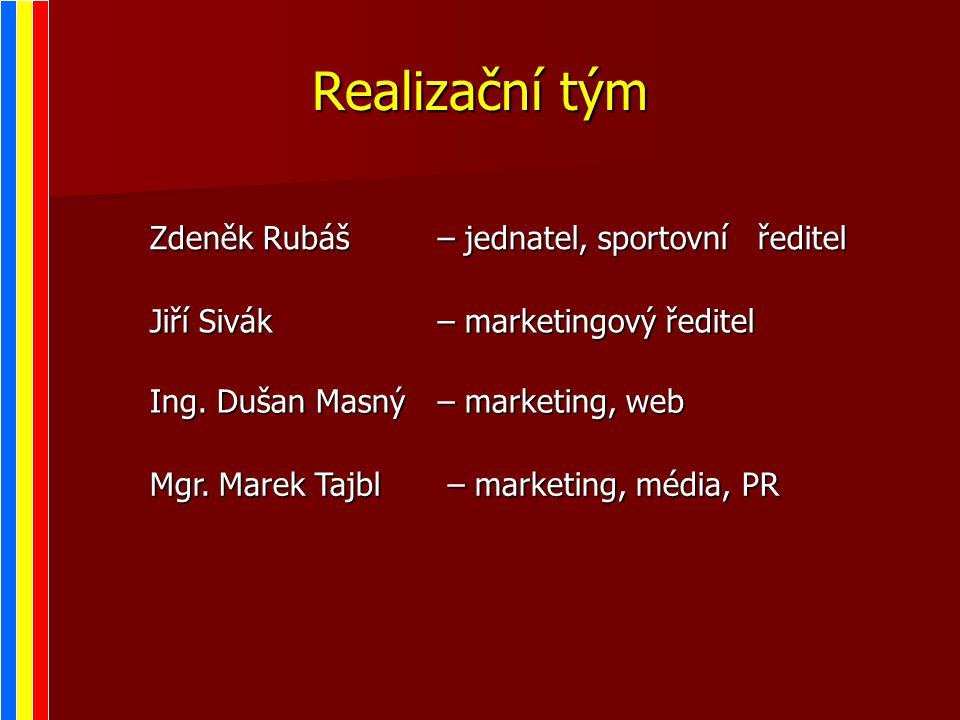 Realizační tým Zdeněk Rubáš– jednatel, sportovní ředitel Jiří Sivák– marketingový ředitel Ing.
