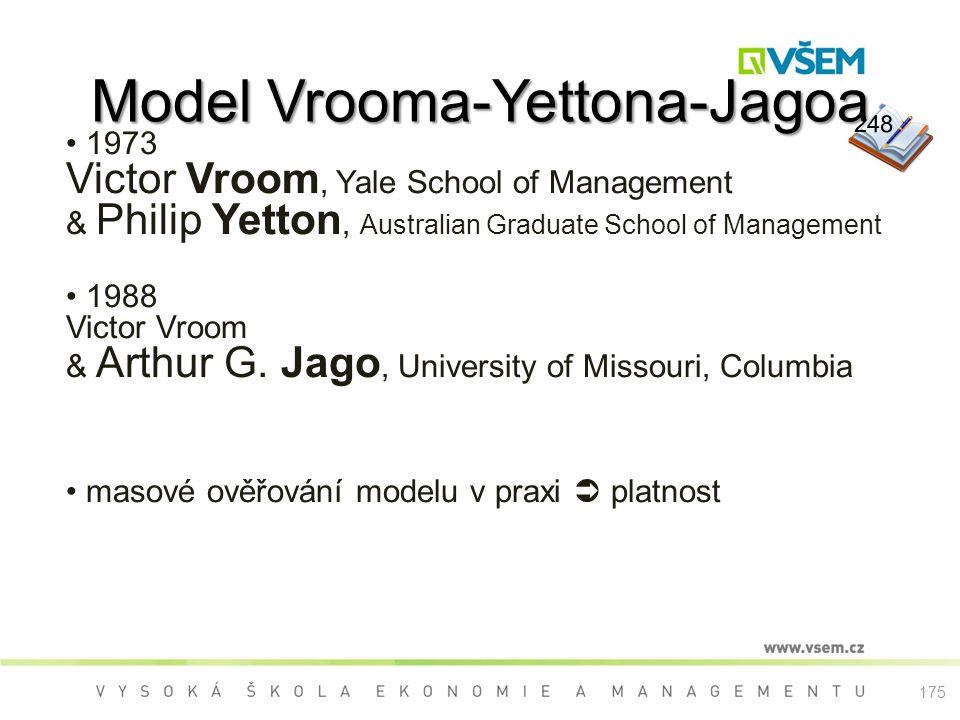 Model Vrooma-Yettona-Jagoa 1973 Victor Vroom, Yale School of Management & Philip Yetton, Australian Graduate School of Management 1988 Victor Vroom & Arthur G.