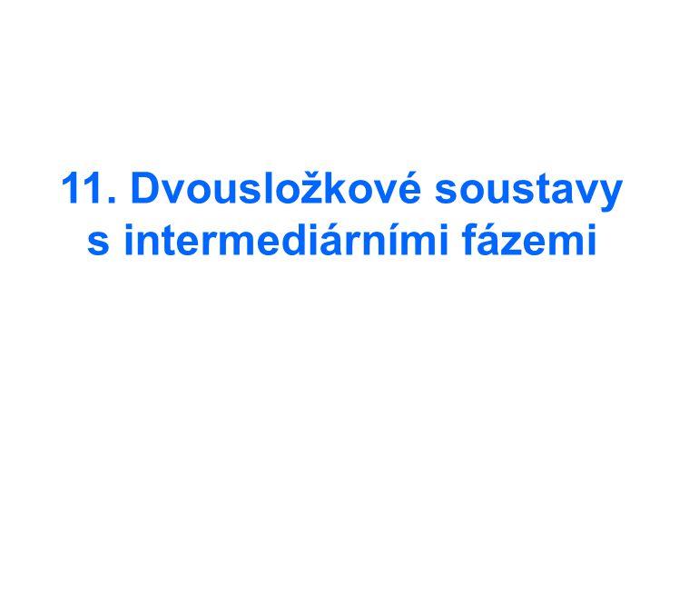 11. Dvousložkové soustavy s intermediárními fázemi