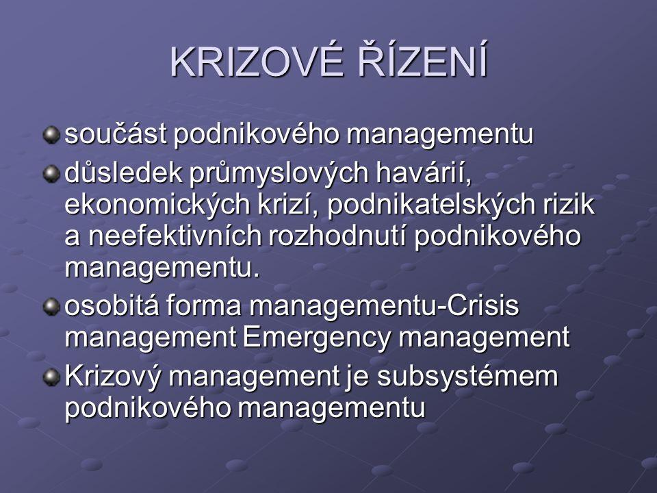 Krizové řízení může mít 2 odlišné cíle: Revitalizovat organizaci - provést soubor opatření, jejichž smyslem je zabránit zániku podniku.
