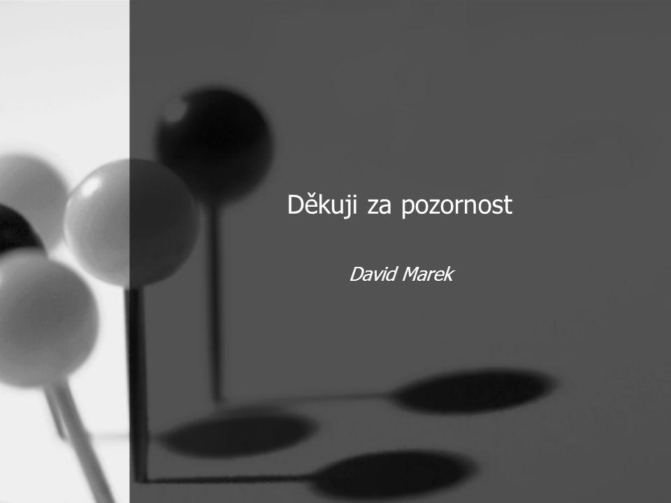 Děkuji za pozornost David Marek