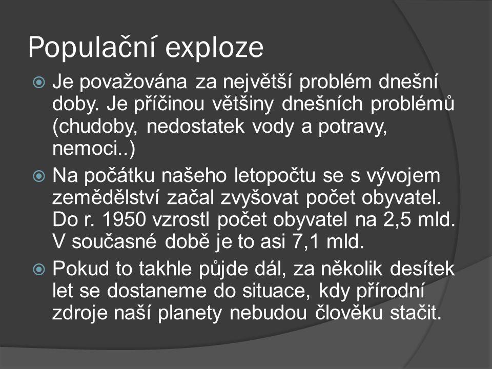 Populační exploze http://m.ihned.cz/c1-53441570-na-zemi-zije-uz-sedm-miliard-lidi-duvod-k-jasotu-ci-k-obavam-z-katastrofy