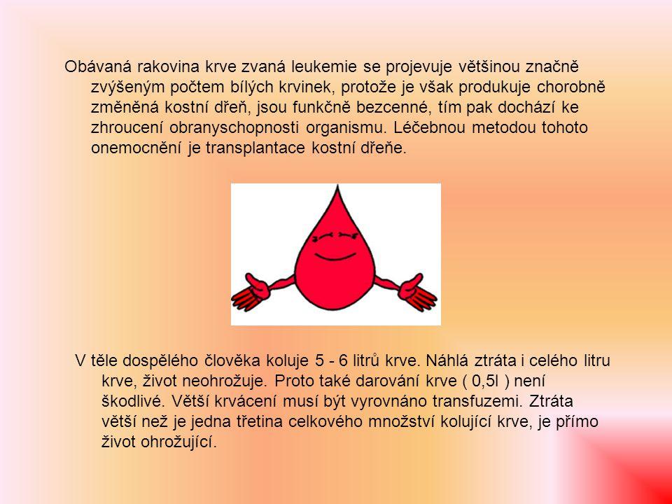 Co je třeba vědět o krvi Krevní srážení nemusí být vždy žádoucí, a to tehdy, dochází-li k němu na stěnách cév.