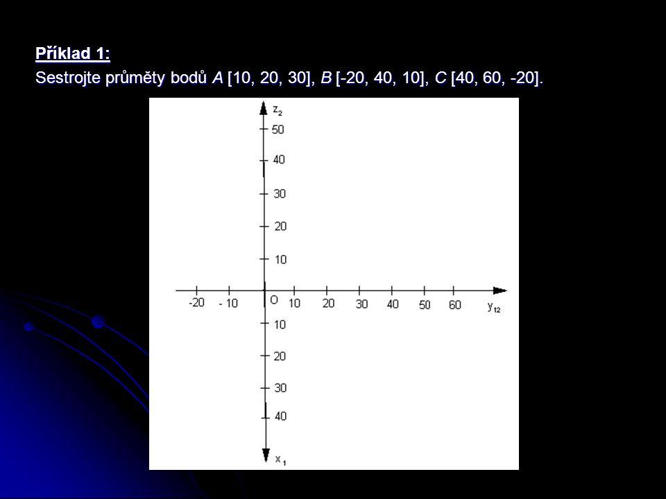 Promítání přímek Průmětem přímky a do průmětny je přímka, je-li přímka a rovnoběžná nebo různoběžná s průmětnou, a bod, je-li přímka a kolmá k průmětně.