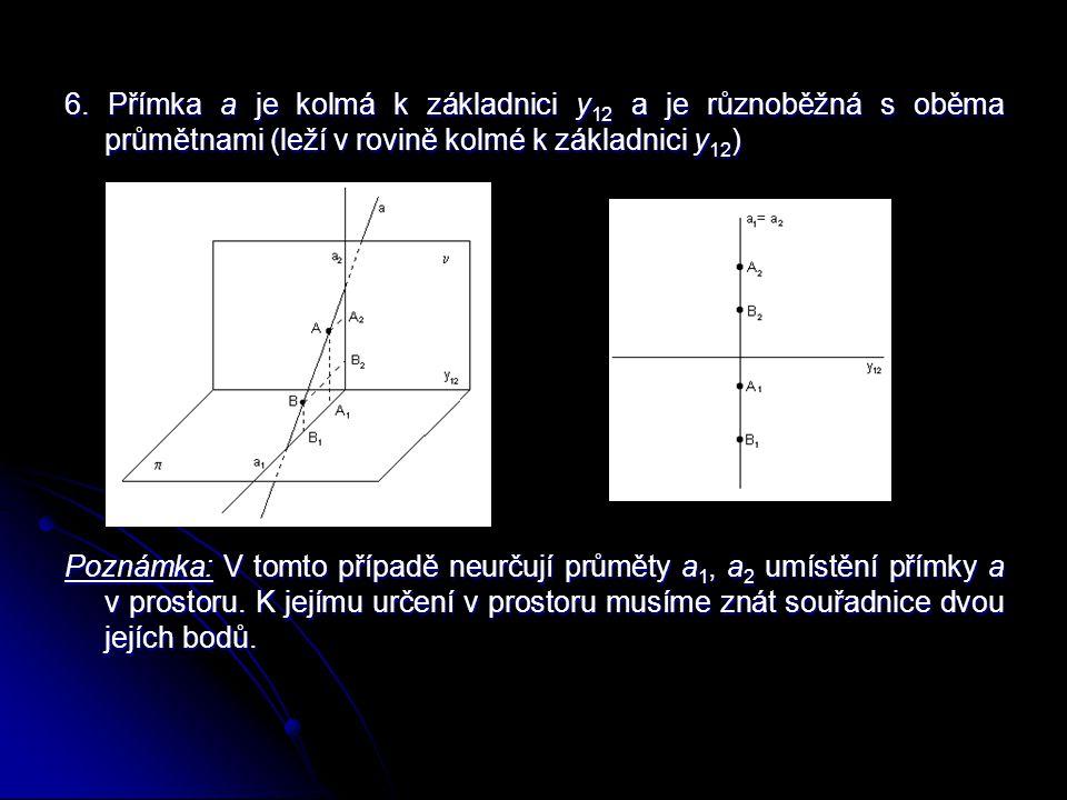 Stopníky přímky Průsečík přímky s průmětnou se nazývá stopník přímky.