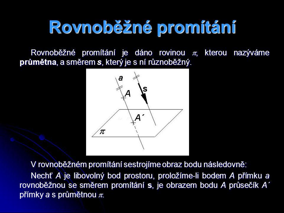 Mongeovo promítání Mongeovo promítání umožňuje zobrazit trojrozměrné objekty na rovinu (na list papíru, na obrazovku monitoru, aj.).