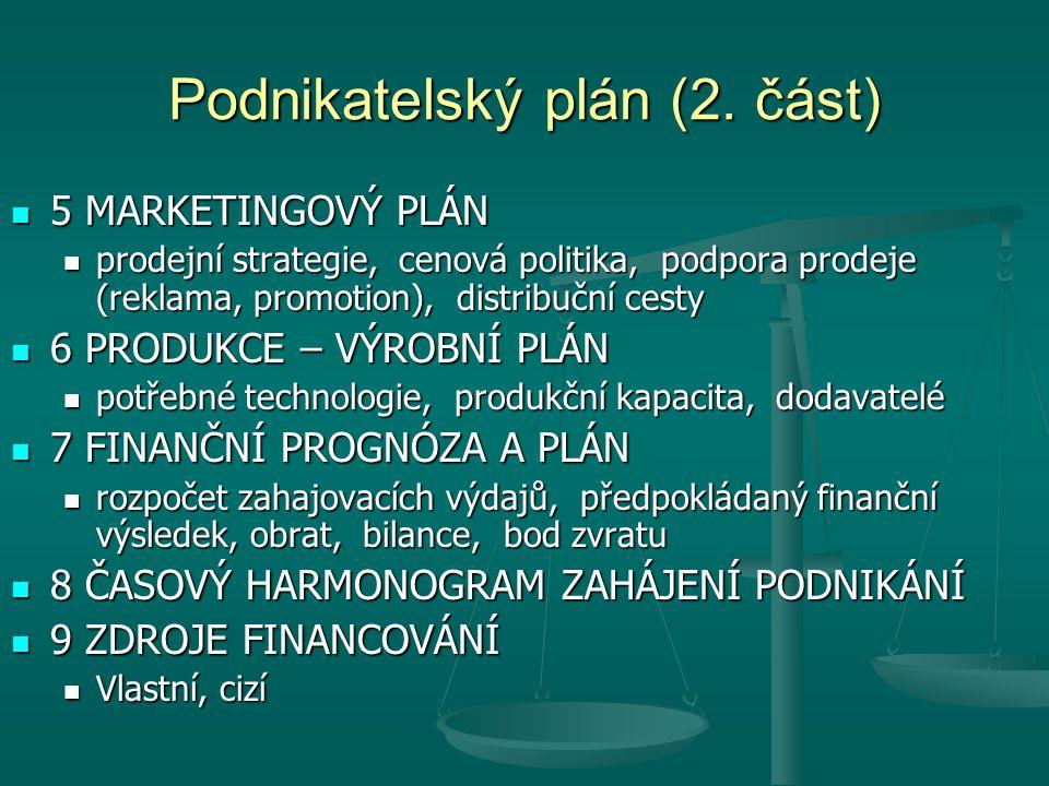 Podnikatelský plán (2.