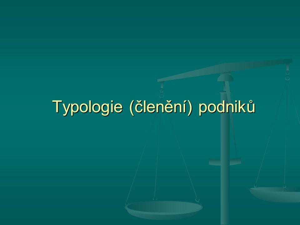Typologie (členění) podniků