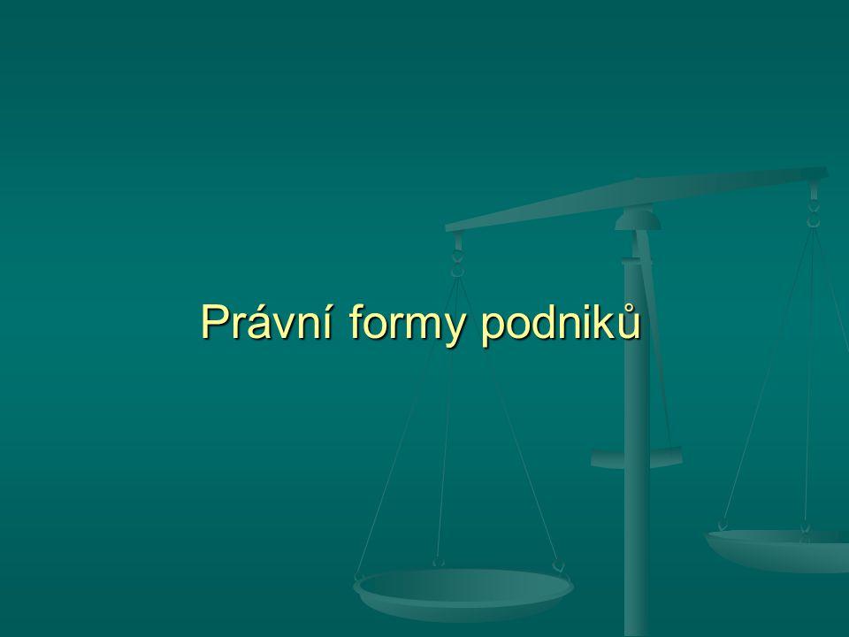 Právní formy podniků