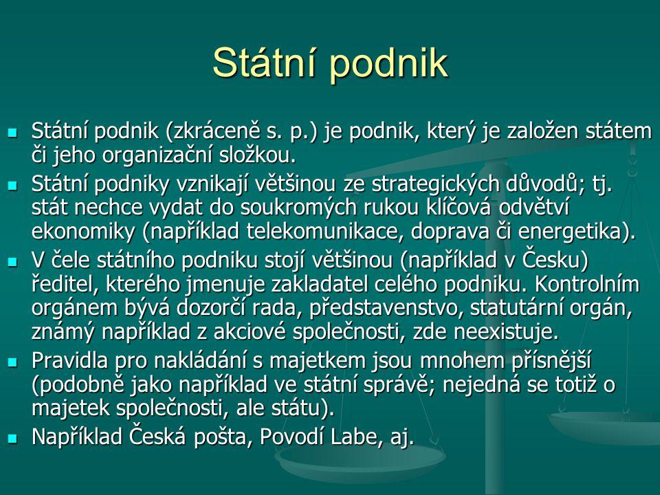 Státní podnik Státní podnik (zkráceně s.