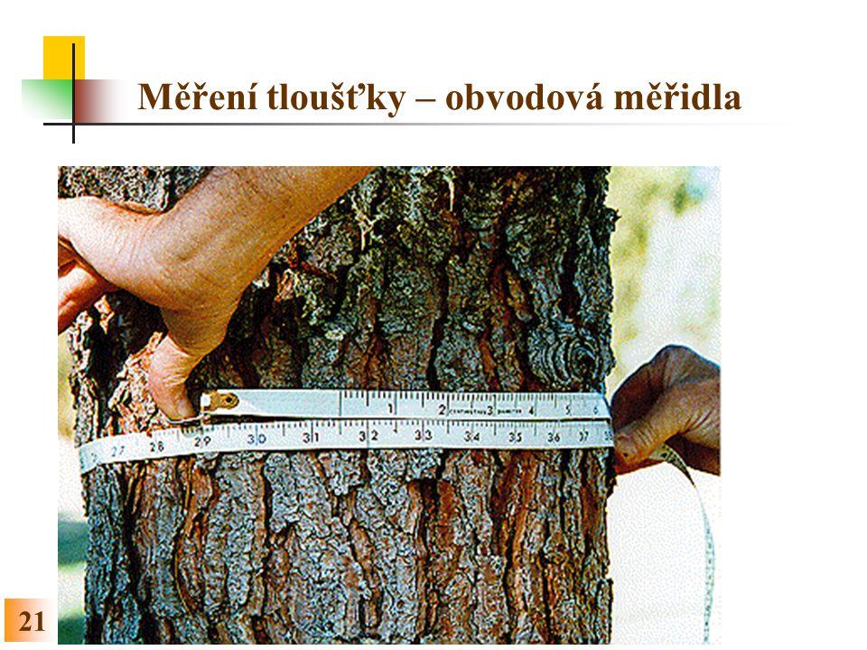 21 Měření tloušťky – obvodová měřidla