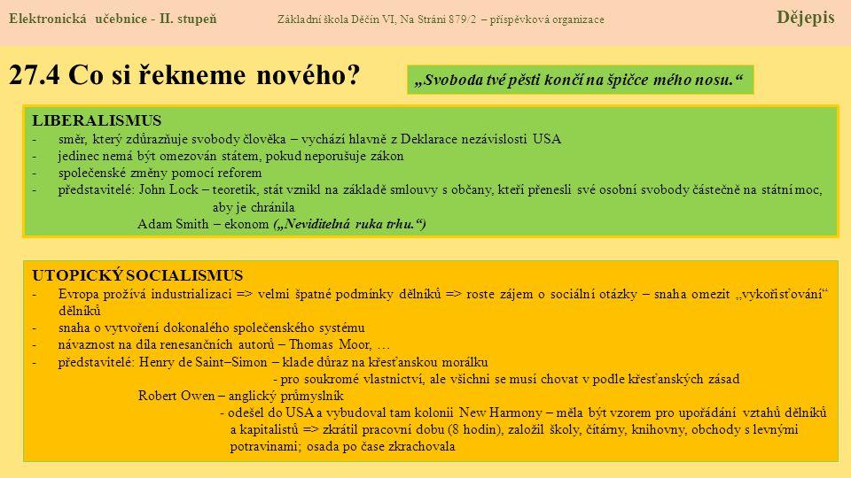 27.4 Co si řekneme nového.Elektronická učebnice - II.
