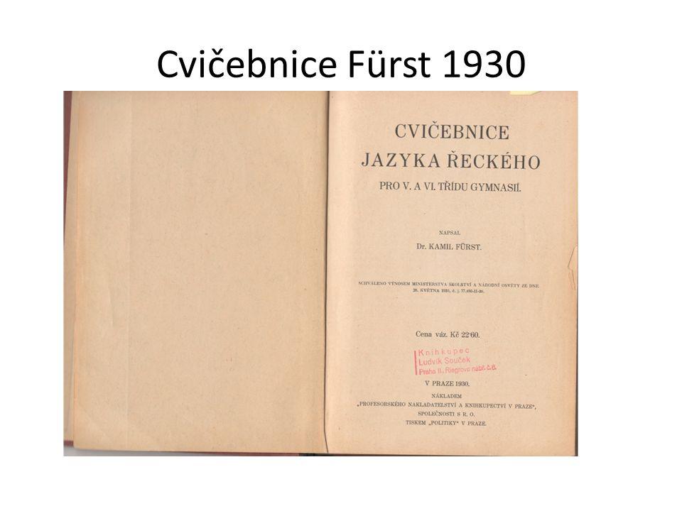 Cvičebnice Fürst 1930