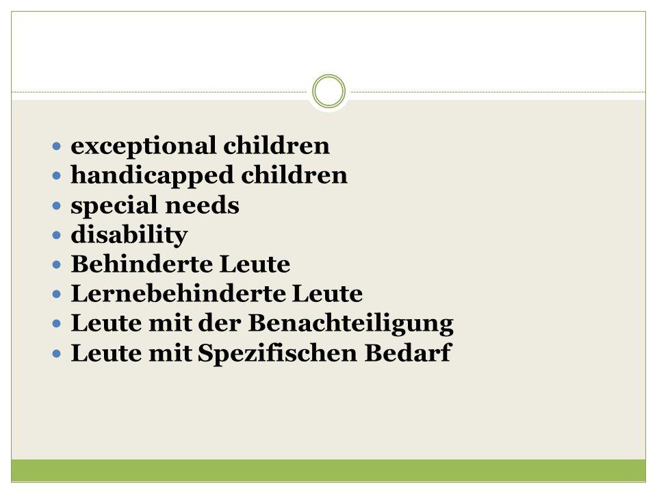 exceptional children handicapped children special needs disability Behinderte Leute Lernebehinderte Leute Leute mit der Benachteiligung Leute mit Spez