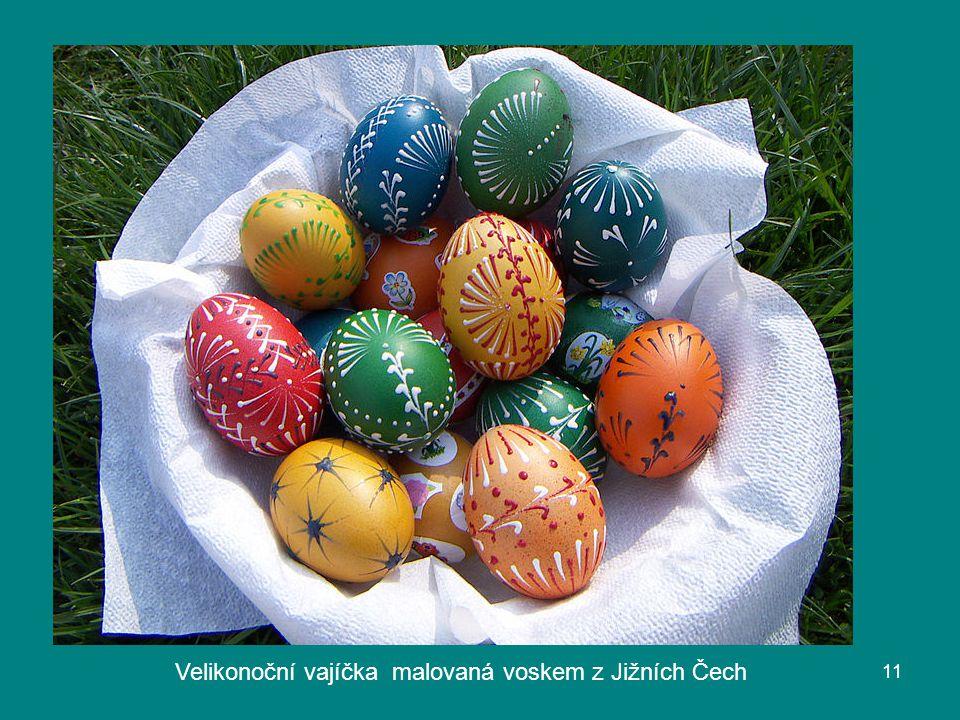 Velikonoční vajíčka malovaná voskem z Jižních Čech 11