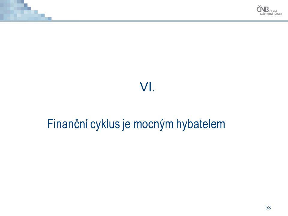 53 VI. Finanční cyklus je mocným hybatelem