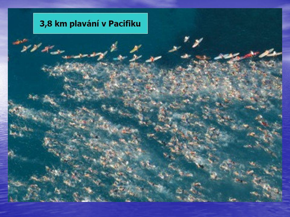 3,8 km plavání v Pacifiku