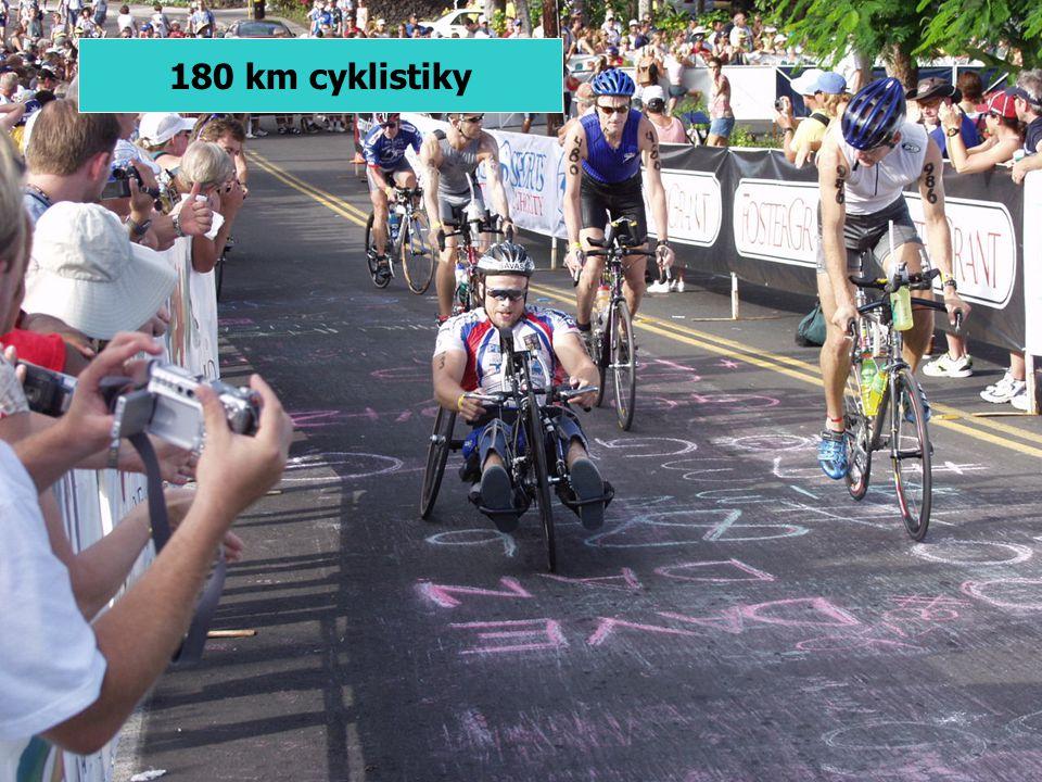 180 km cyklistiky