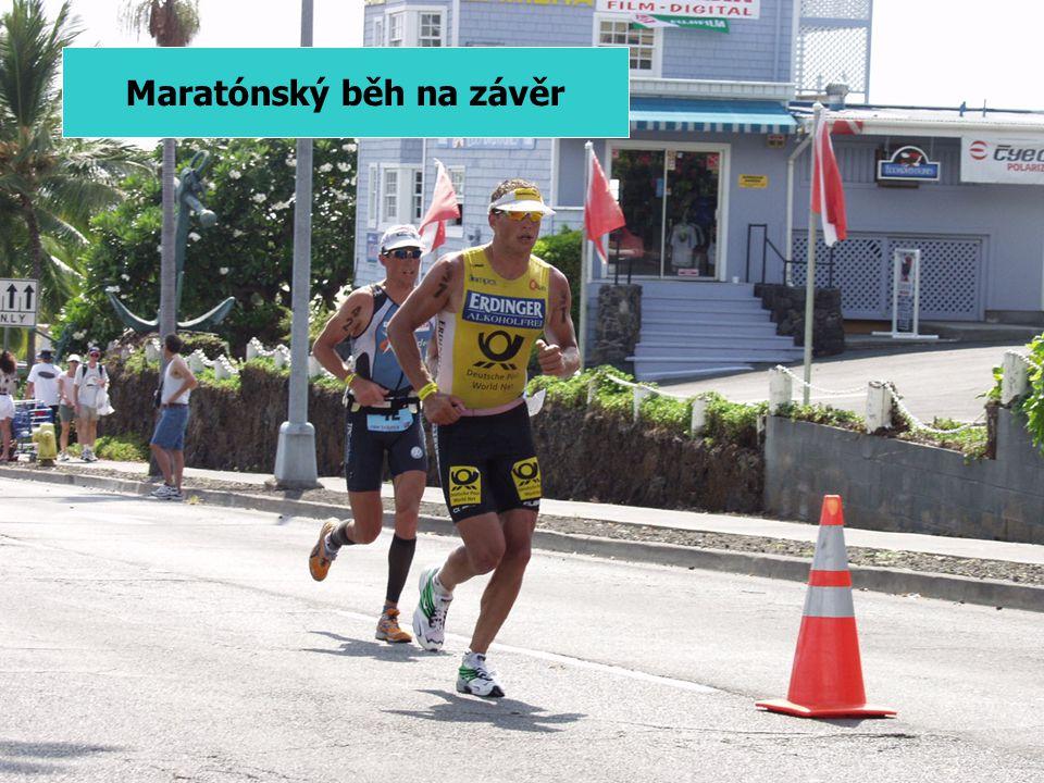 1.) Ironman základní data Plavání 3,8 km Kolo 180 km Běh 42,2 km Kolébka triatlonu na Havaji Sázka poručíka Collinse 1978 – Oahu (méně jak 20 startujících) 1980 – Kona 2005 – více jak 1800 startujících