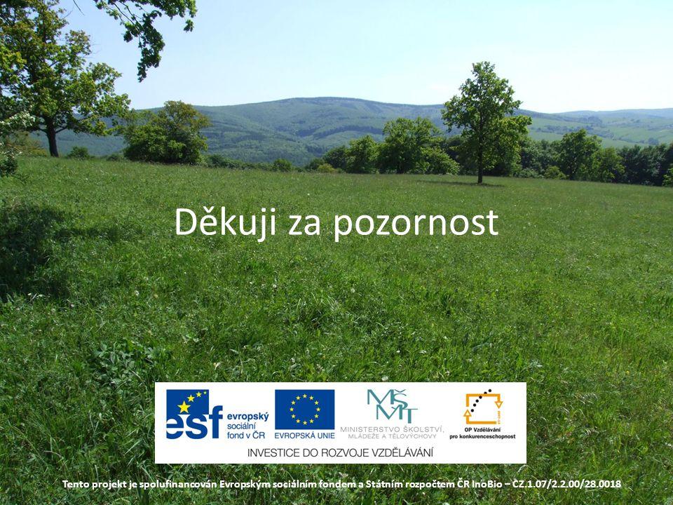 Děkuji za pozornost Tento projekt je spolufinancován Evropským sociálním fondem a Státním rozpočtem ČR InoBio – CZ.1.07/2.2.00/28.0018