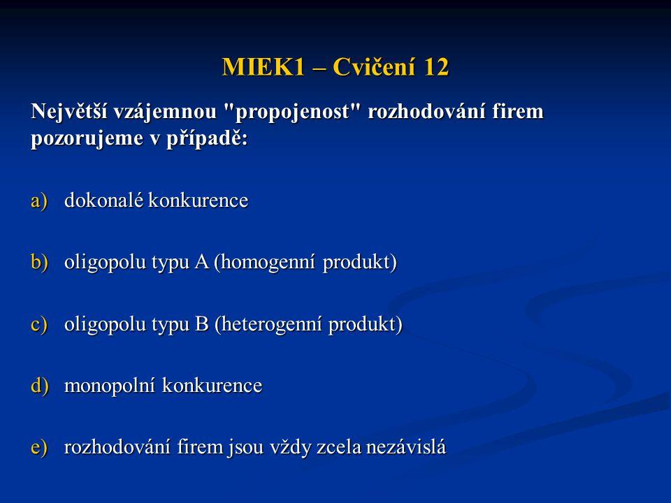 MIEK1 – Cvičení 12 Největší vzájemnou
