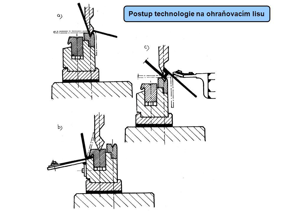 Postup technologie na ohraňovacím lisu