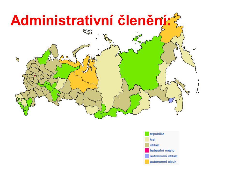  republiky – nejvyšší autonomie (ústava, prezident, parlament), nemají mezinárodně právní subjektivitu - převaha na jihu (Kavkaz) a v Povolží - např.