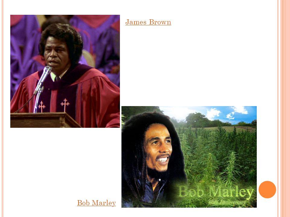 S OUL, REGGAE Soul – z afroamerických spirituálů Reggae – vznik v 60.letech 20. st. Jamajka - rastafariánská tématika Poslech: James Brown I feel good