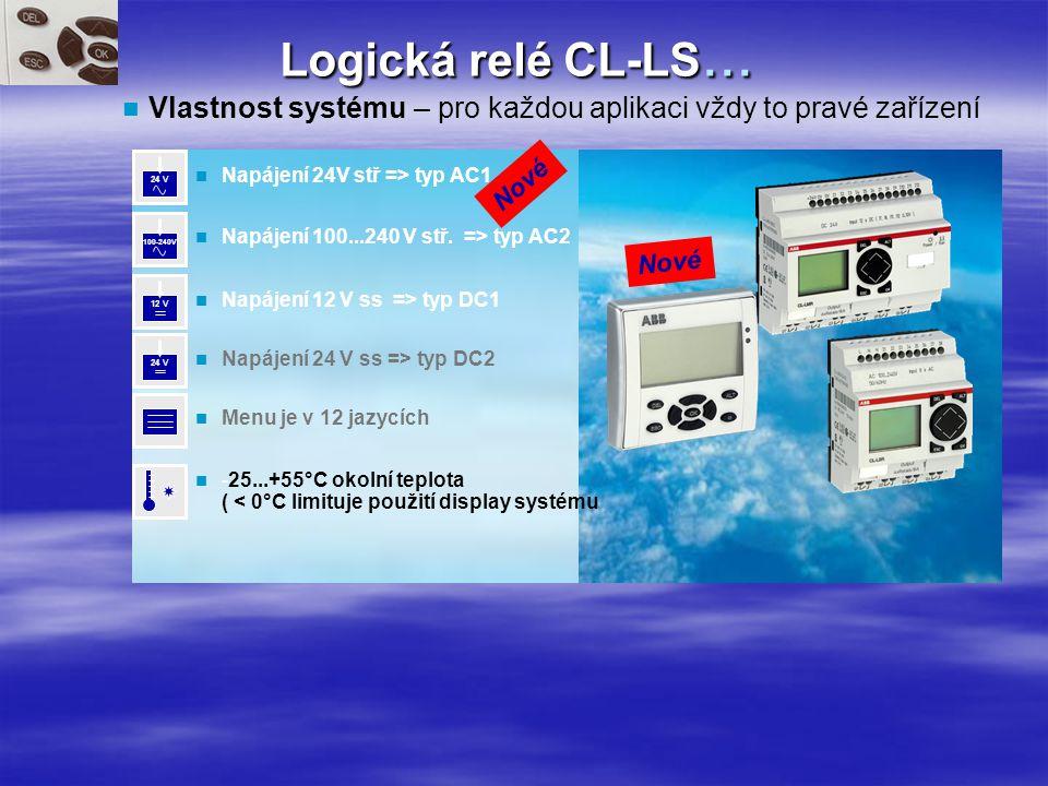 Logická relé CL-LS...