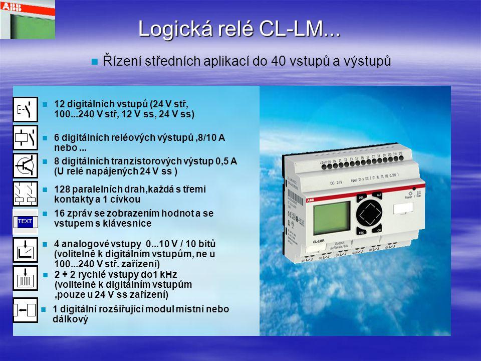Logická relé CL-LE...Rozšiřující moduly pro místní nebo dálkové rozšíření…..