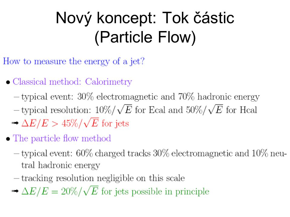 Nový koncept: Tok částic (Particle Flow)