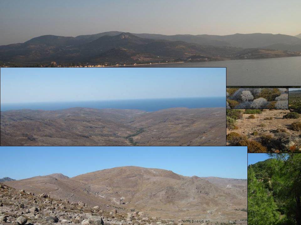 Rozloha: 1 630 km 2 Počet obyvatel: 93 428 Nejvyšší bod: 968 m Ostrov Lesbos