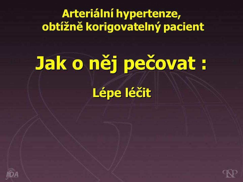 Jak o něj pečovat : Lépe léčit Arteriální hypertenze, obtížně korigovatelný pacient