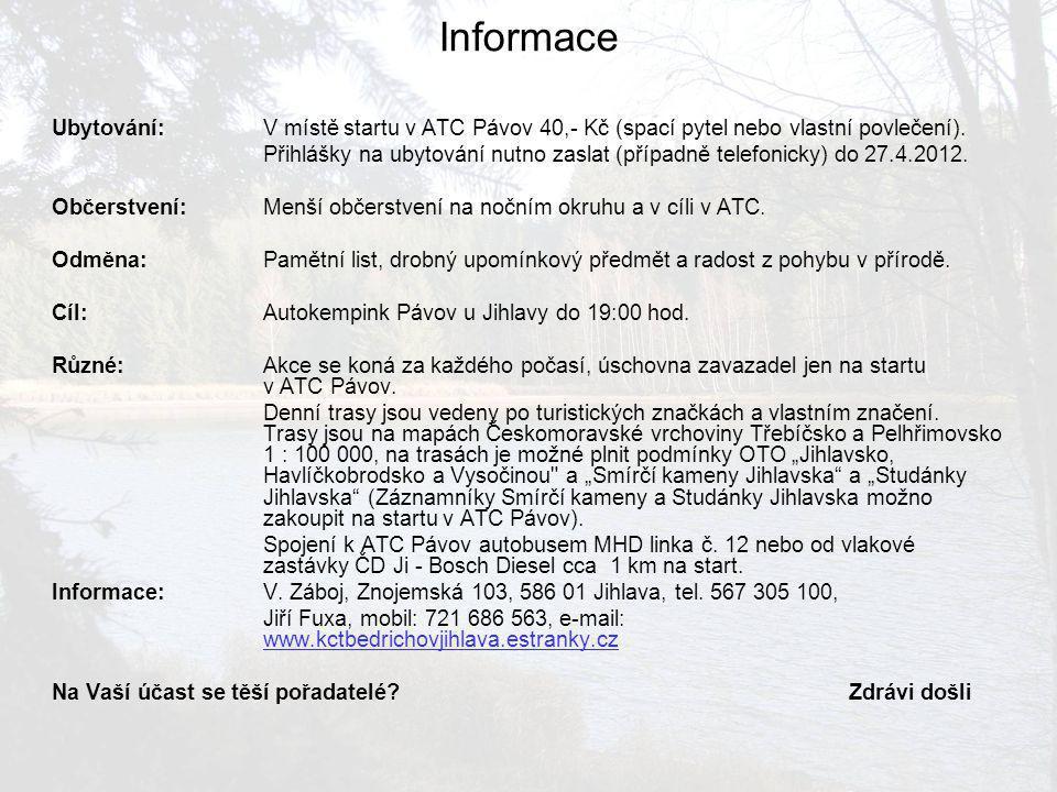 Trasa pochodu 15 km Od nádraží ČD půjdete Havlíčkovou ulicí, po které vede linka trolejbusu A a B1 a dostanete se ke druhému kruhovému objezdu.